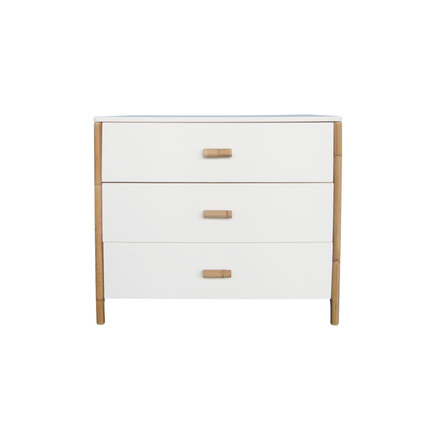 Chambre TRIO Lit 70x140 Commode Armoire OCEANE Neige THEO - 4