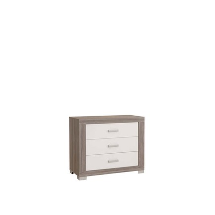 Chambre TRIO Lit 70 Commode Armoire HAUKE Bicolore Pans offert BEBE9 CREATION - 3