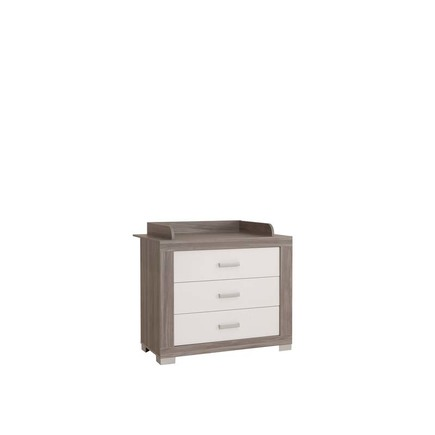 Chambre TRIO Lit 70 Commode Armoire HAUKE Bicolore Pans offert BEBE9 CREATION - 9